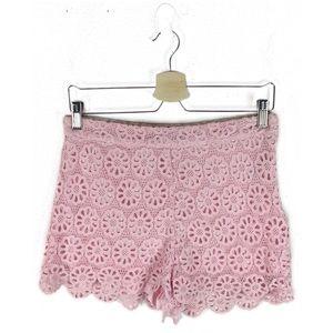 2/$10 Forever 21   pink crochet shorts